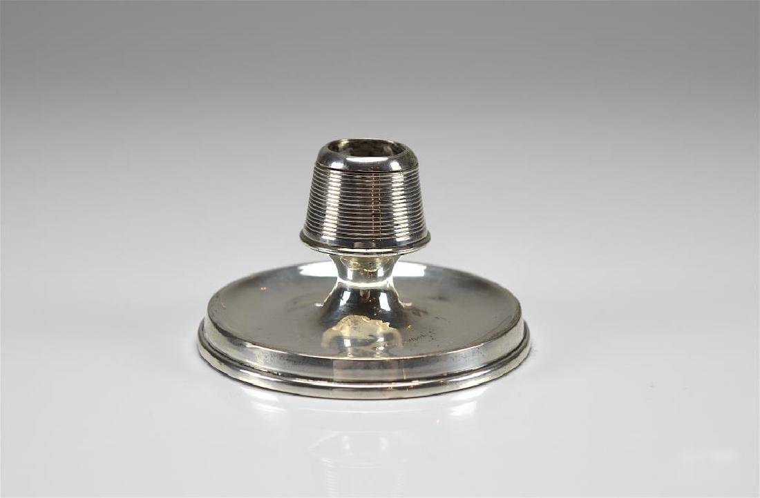 19th C English silver match strike and holder
