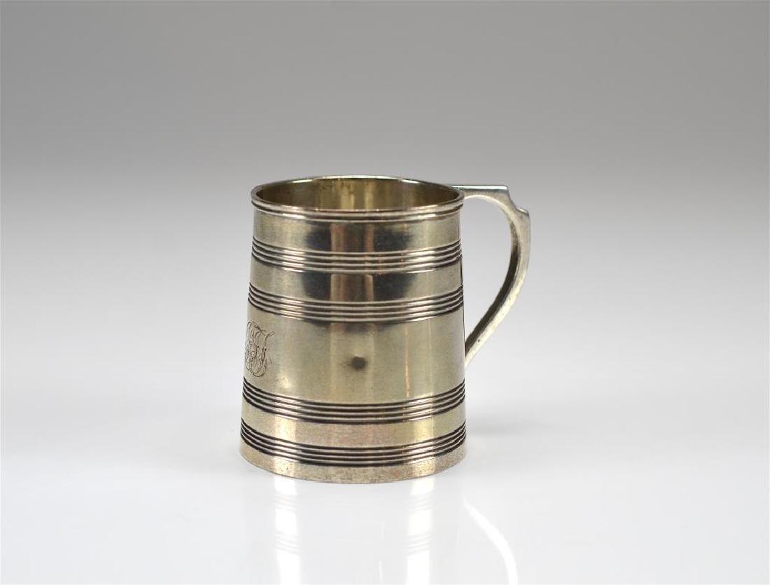 Georgian English silver christening cup
