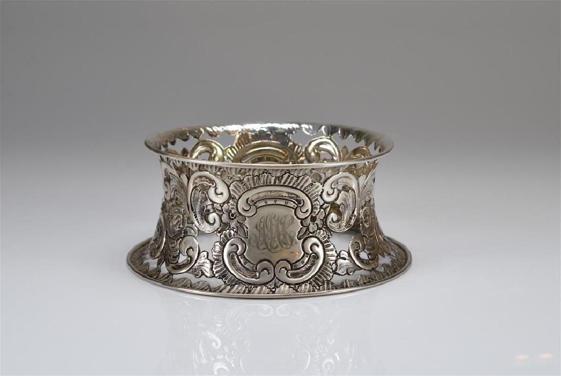 English silver dish ring