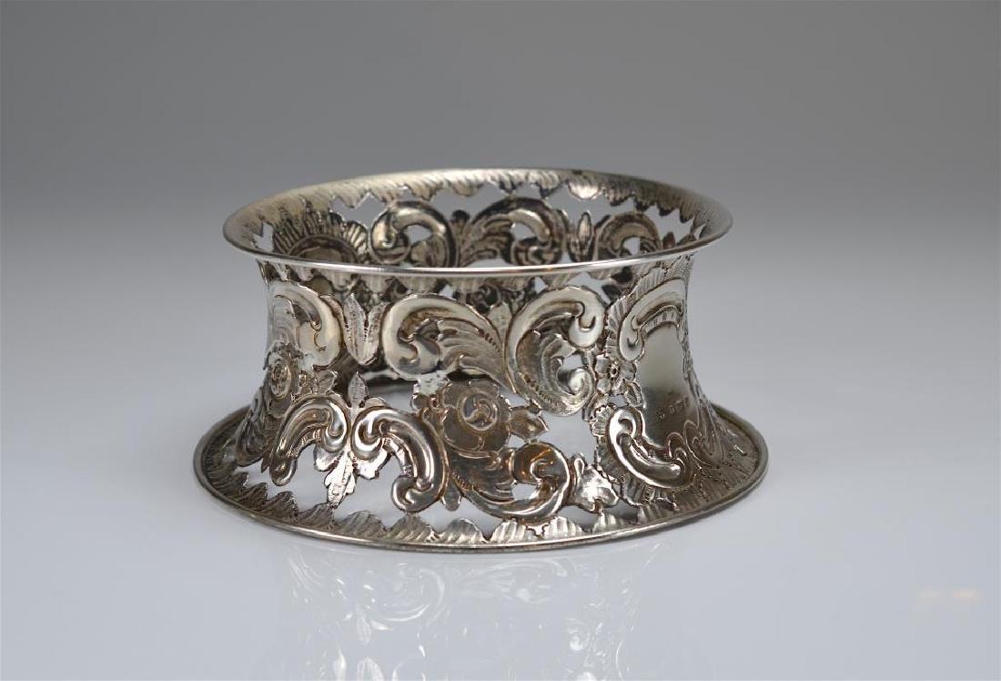 English silver dish ring - 4