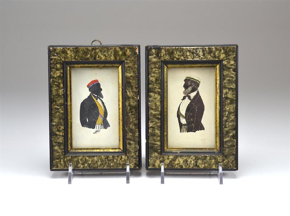 Two 19th C silhouette portraits