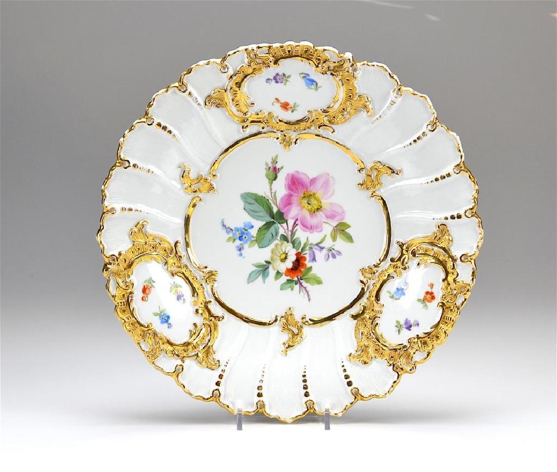 Meissen moulded porcelain bowl