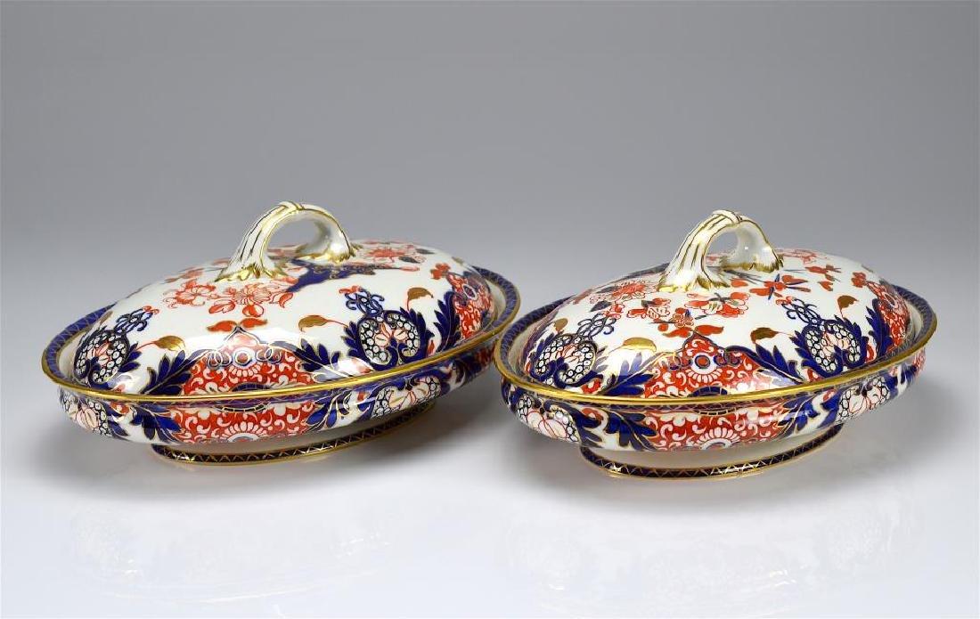 Pair of Royal Crown Derby Kings pattern tureens