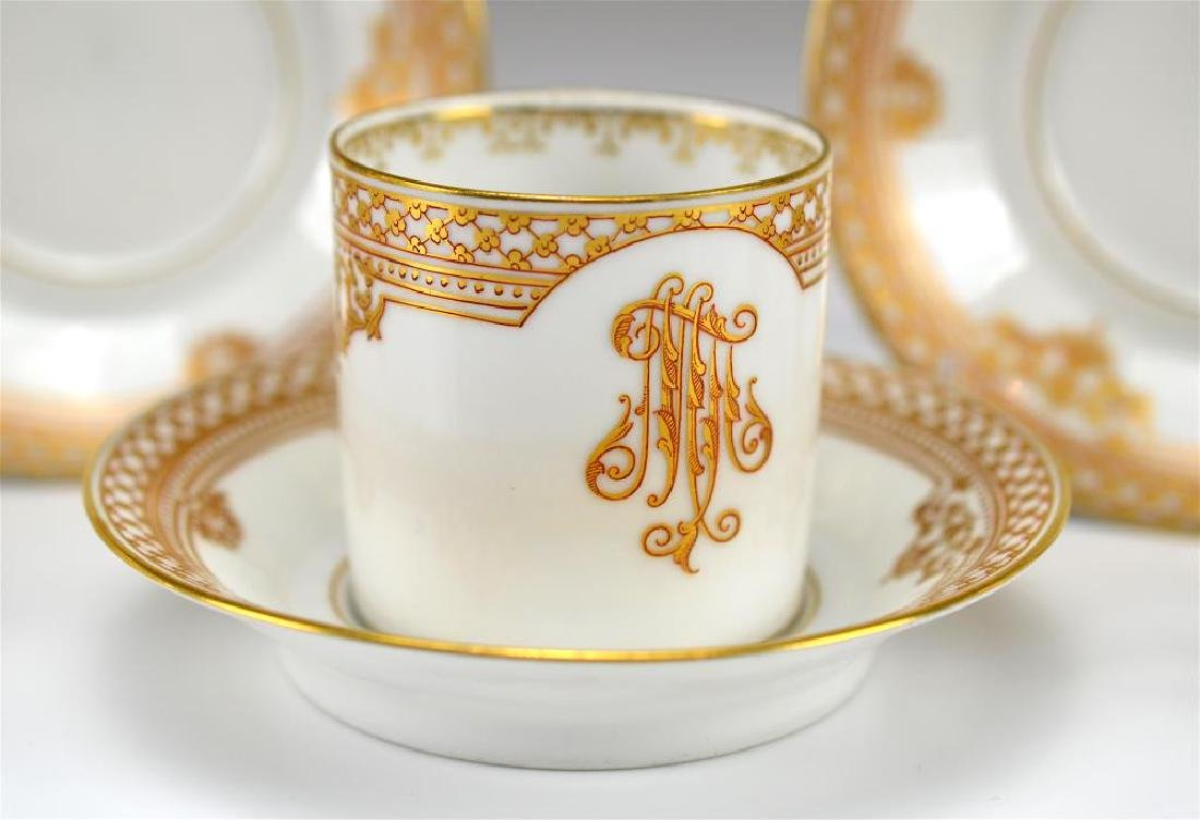 Four Russian porcelain Kornilov cups and saucers - 2