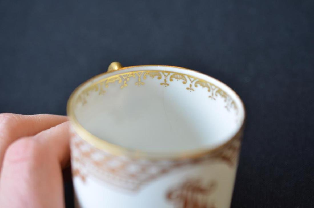 Four Russian porcelain Kornilov cups and saucers - 7