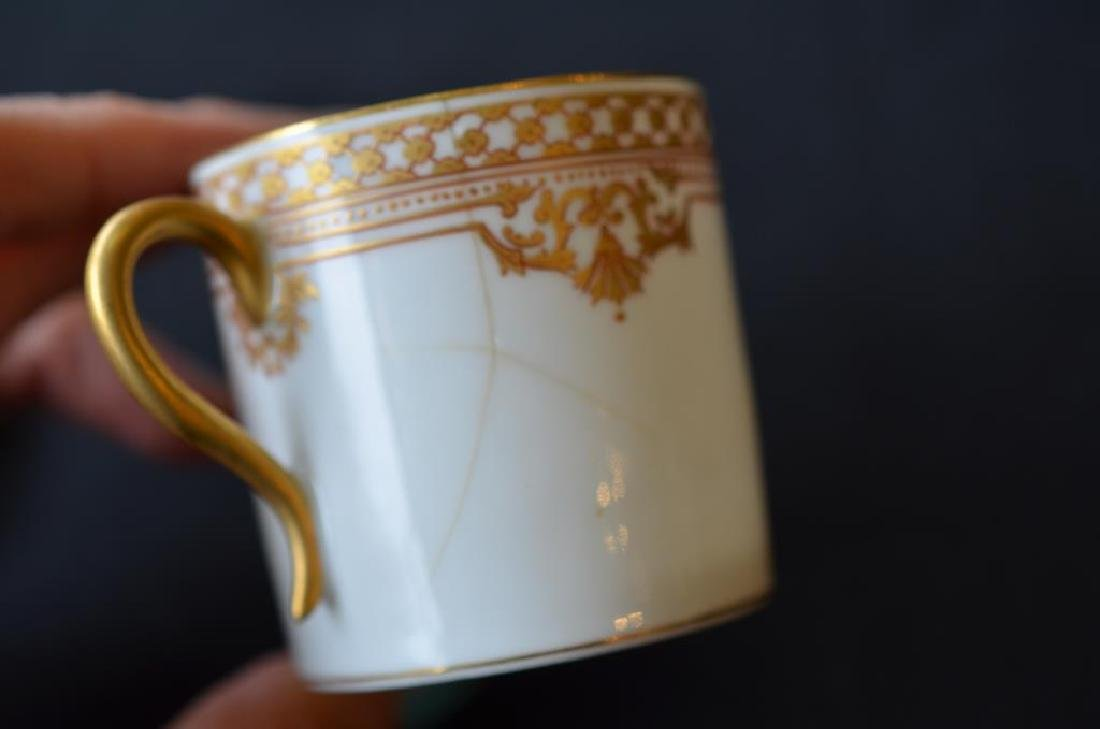 Four Russian porcelain Kornilov cups and saucers - 8
