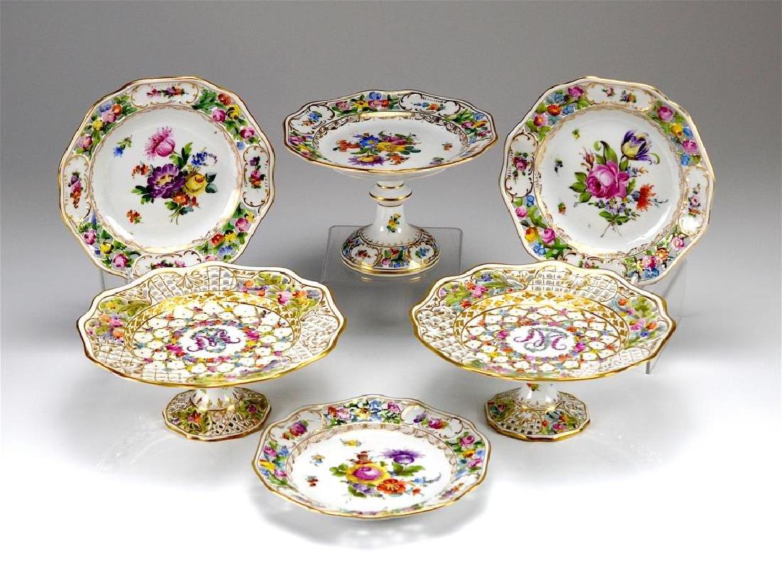 Lot of Carl Thieme Dresden hand painted porcelain