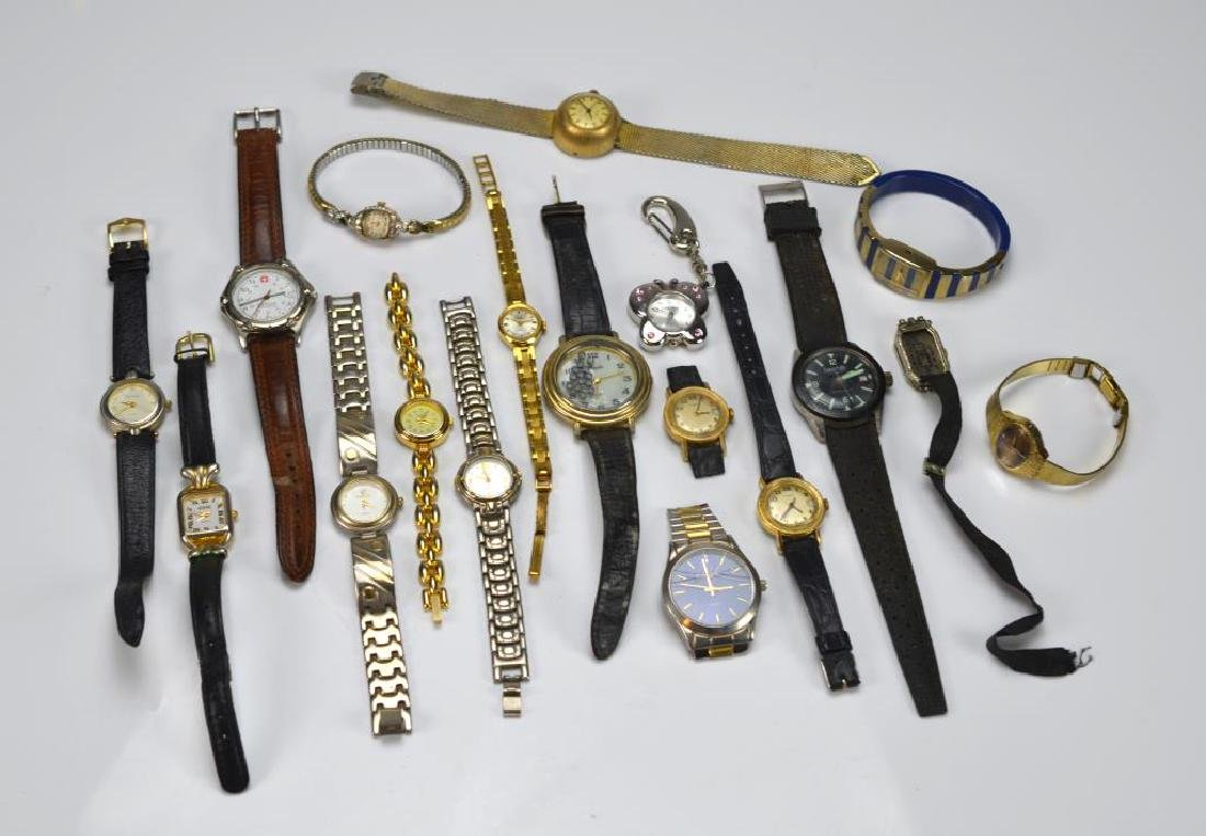 Lot of men's and ladies wristwatches