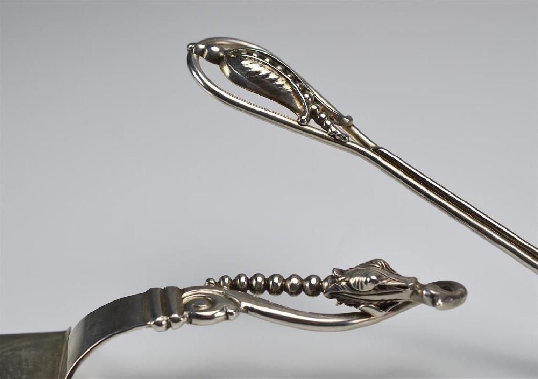 Two silver cake servers - 4