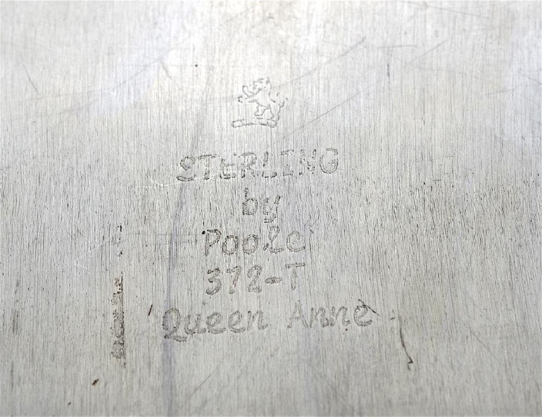Poole Queen Anne silver presentation serving tray - 4