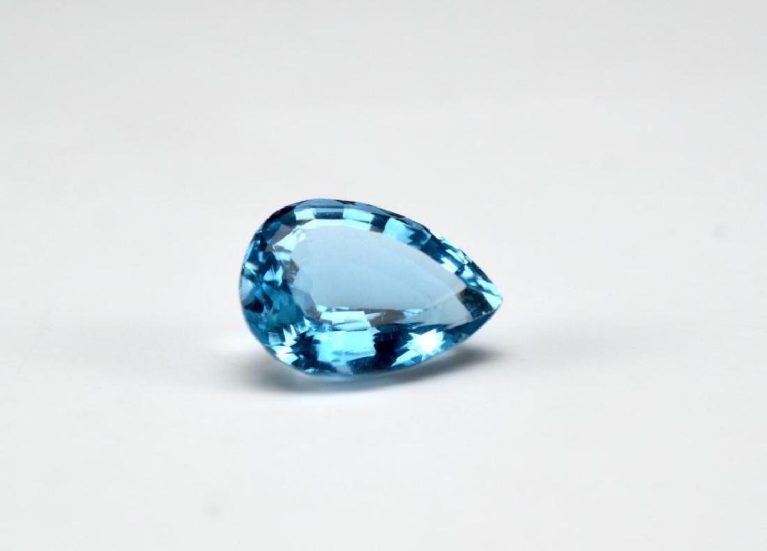 Loose pear-shaped topaz gemstone