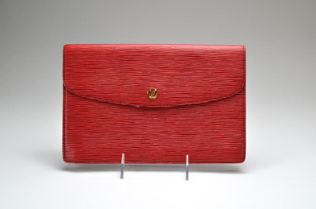 Louis Vuitton vintage red epi leather purse