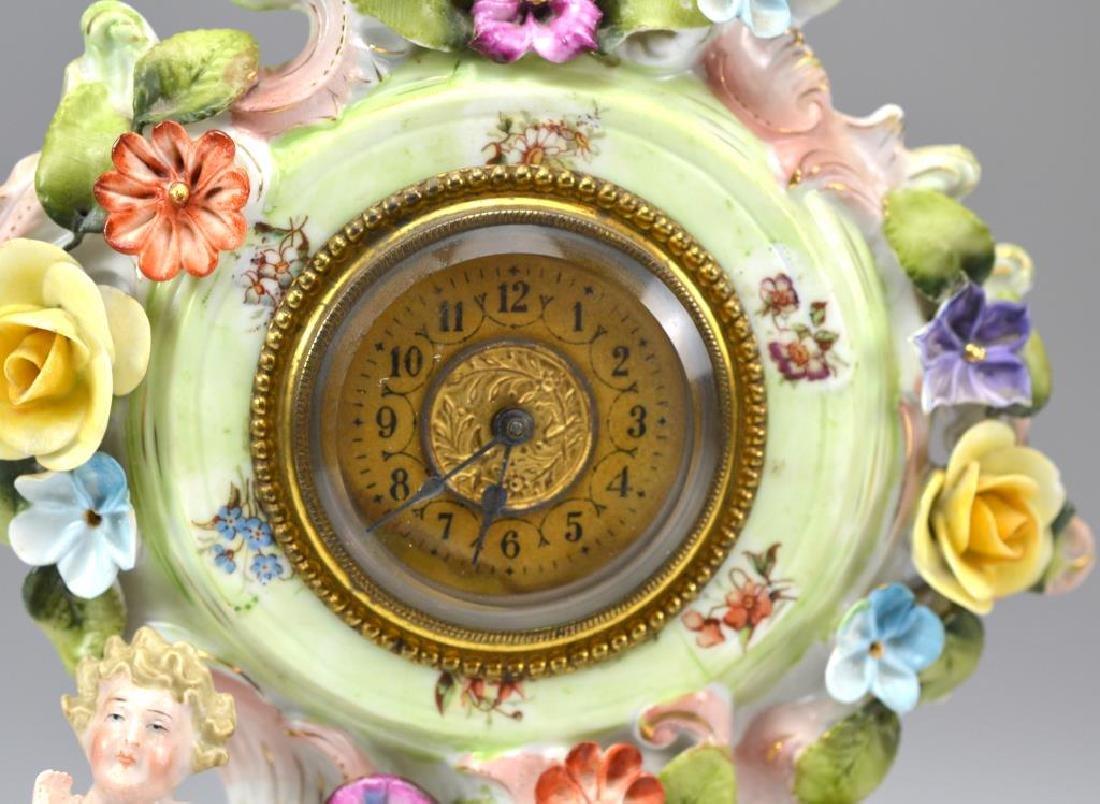 Continental porcelain mantle clock - 2