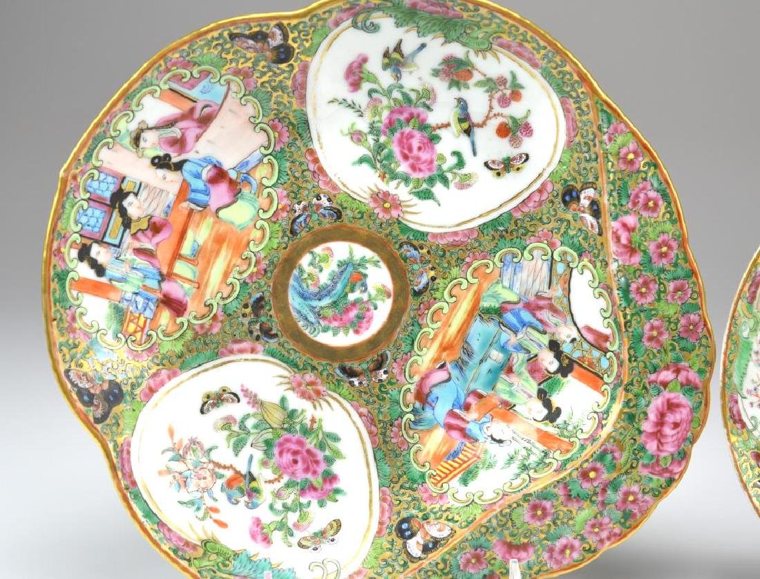 Two Canton famille rose medallion porcelain dishes - 3