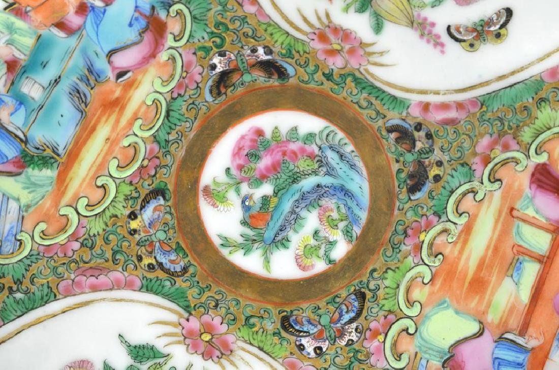 Two Canton famille rose medallion porcelain dishes - 4