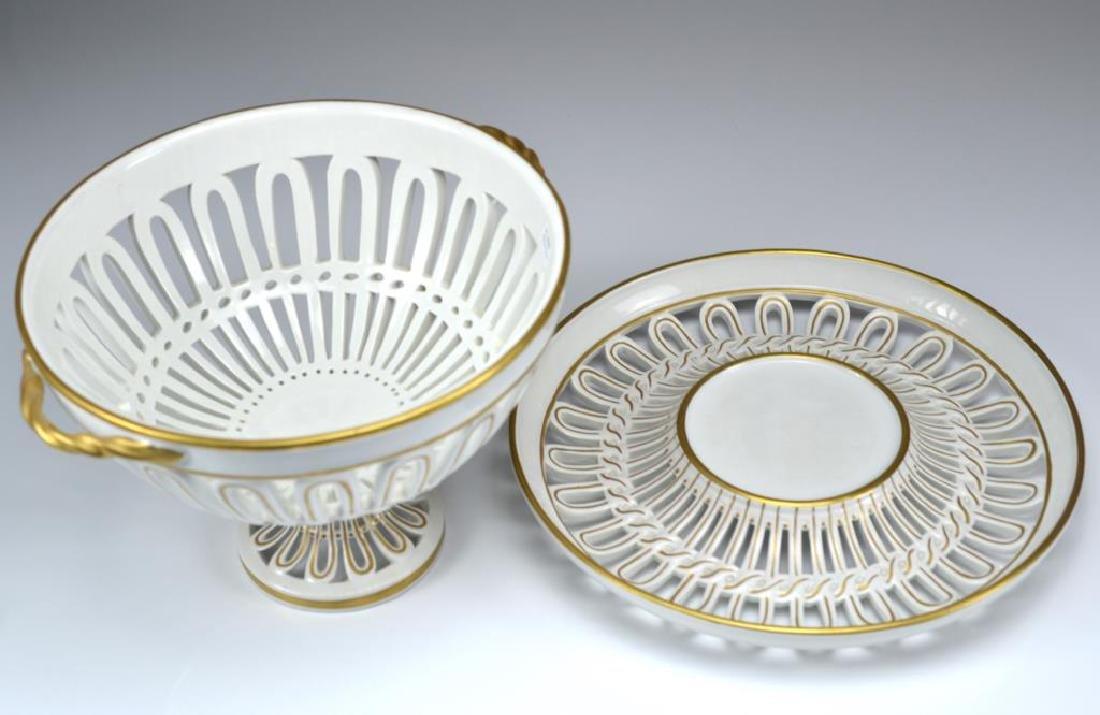 Mottahedeh Italian porcelain center bowl on stand - 2