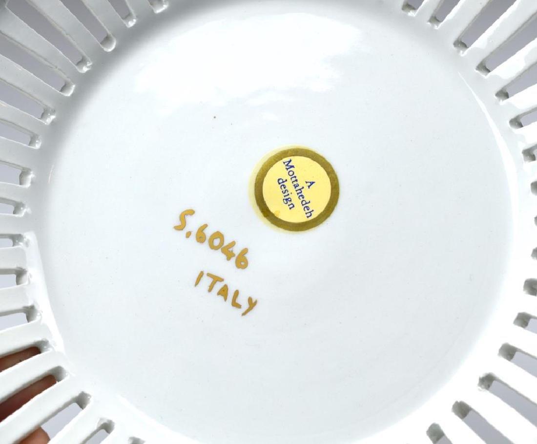 Mottahedeh Italian porcelain center bowl on stand - 3