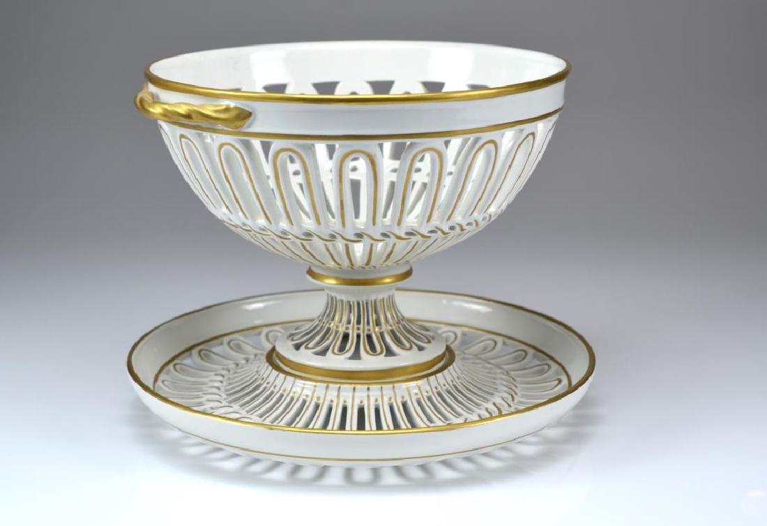 Mottahedeh Italian porcelain center bowl on stand - 4