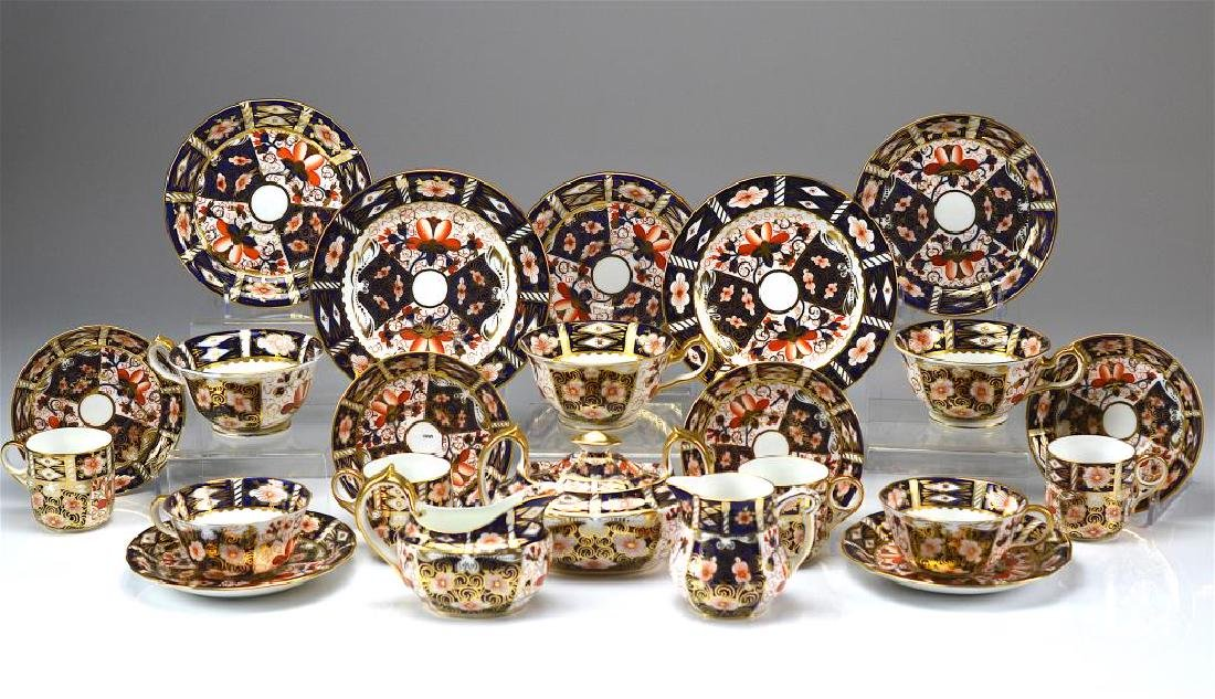 Royal Crown Derby Imari partial tea service