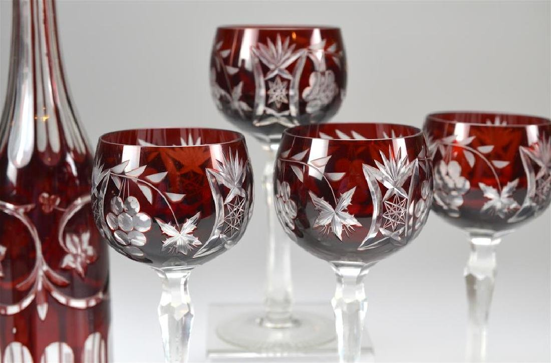 Lot of Ruby flashed glass - 3