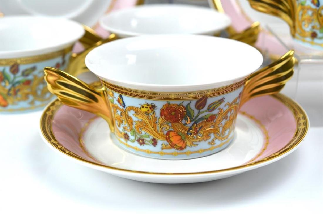 Rosenthal Versace seven soup bowls and saucers - 2