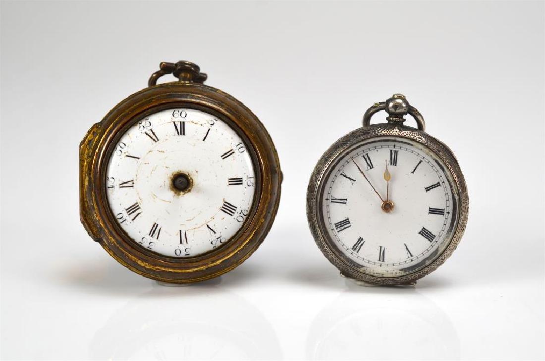 18th C English pair case pocket watch