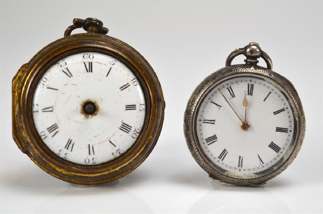 18th C English pair case pocket watch - 2