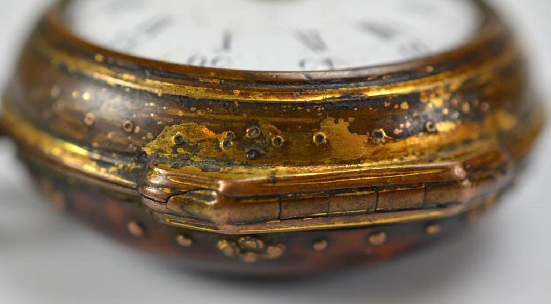 18th C English pair case pocket watch - 4