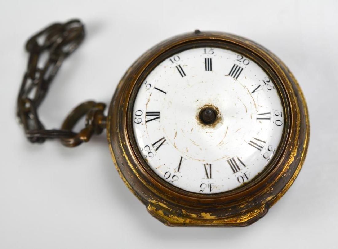 18th C English pair case pocket watch - 5