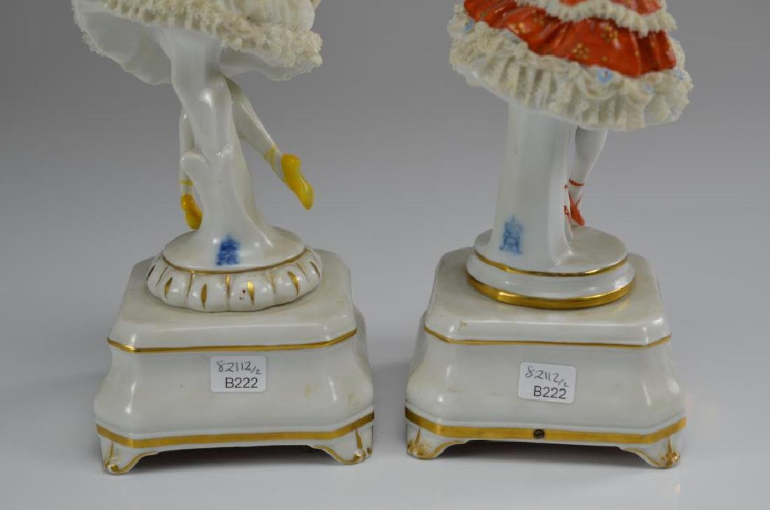 Two Dresden Volkstedt ballerina music boxes - 2