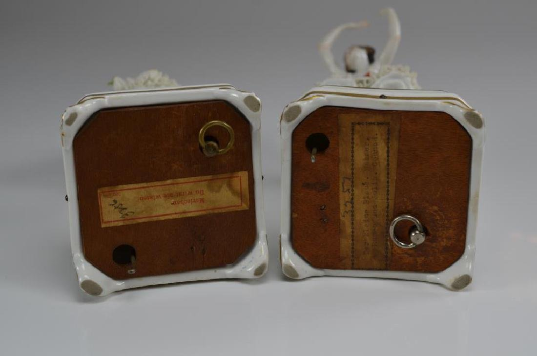 Two Dresden Volkstedt ballerina music boxes - 3