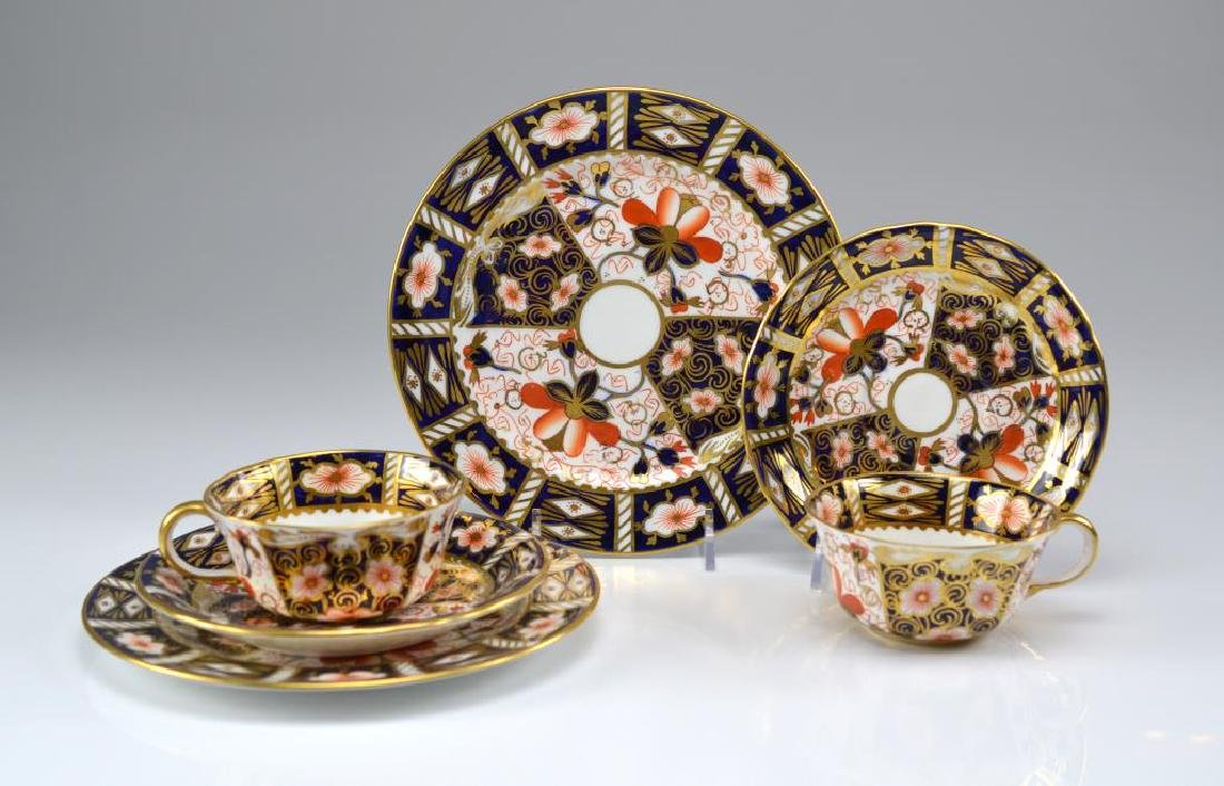 Two Royal Crown Derby Imari 2451 trios