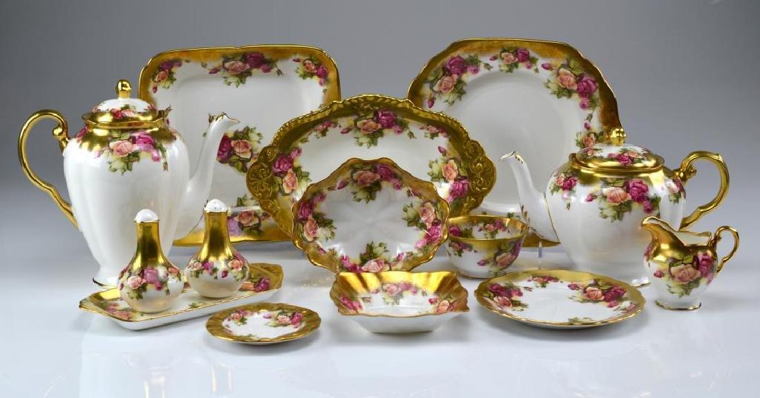 Royal Chelsea Golden Rose porcelain tea service 20