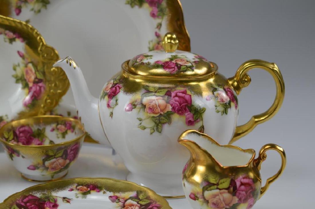 Royal Chelsea Golden Rose porcelain tea service 20 - 2
