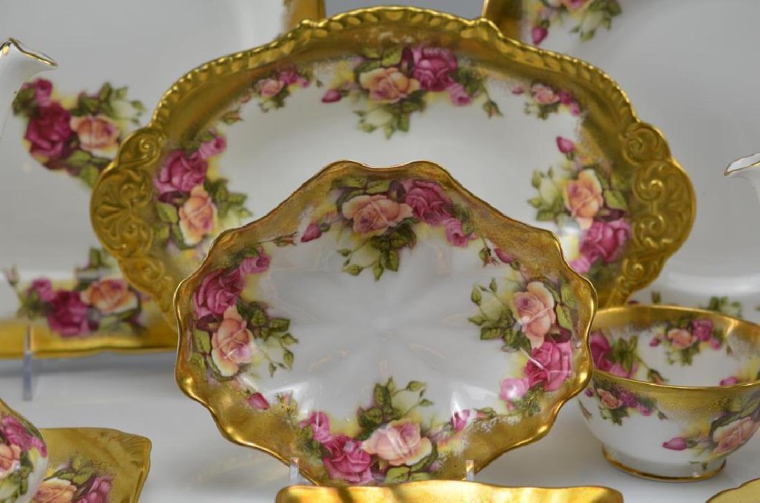 Royal Chelsea Golden Rose porcelain tea service 20 - 3