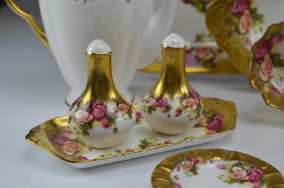 Royal Chelsea Golden Rose porcelain tea service 20 - 4