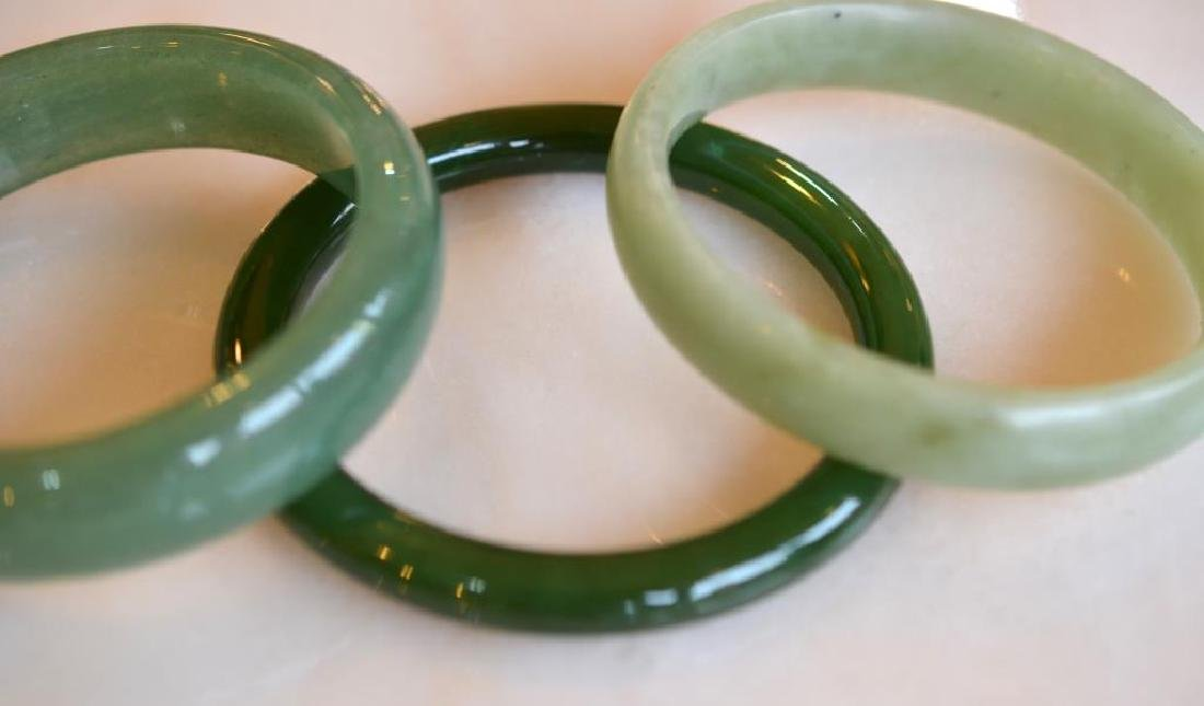 Three jadeite bangles - 2