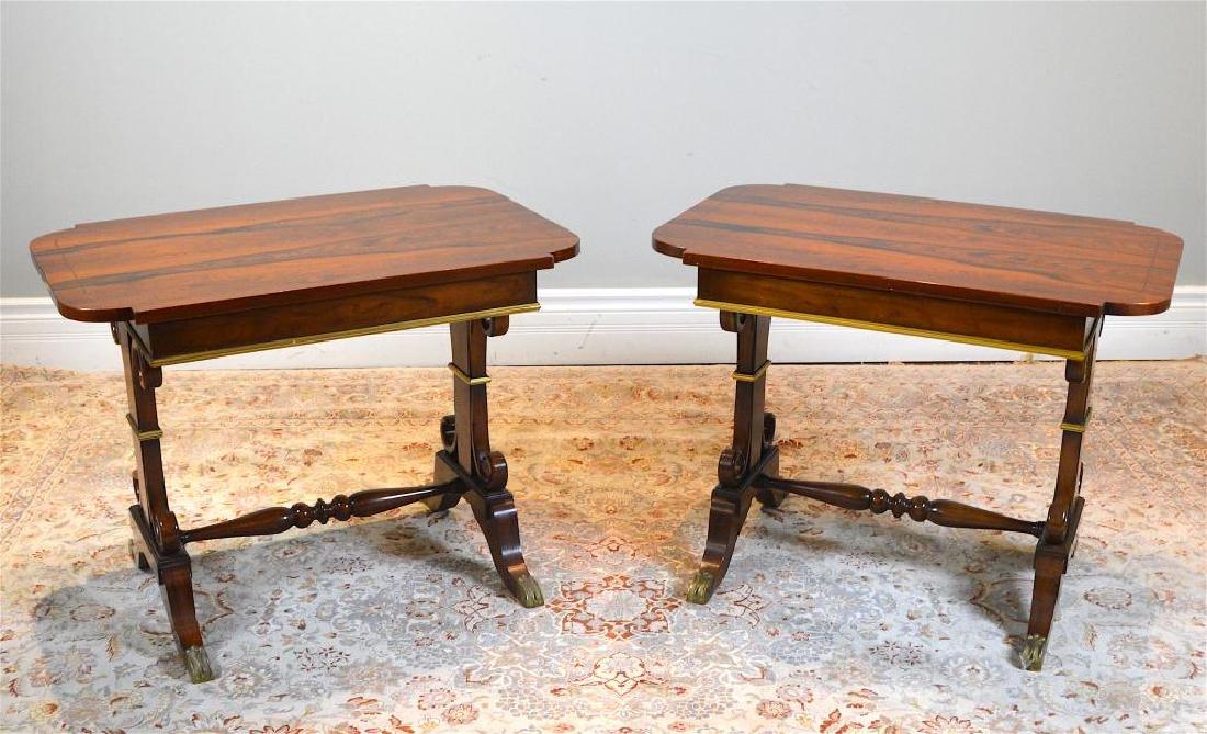 Pair of Regency Style Rosewood side tables