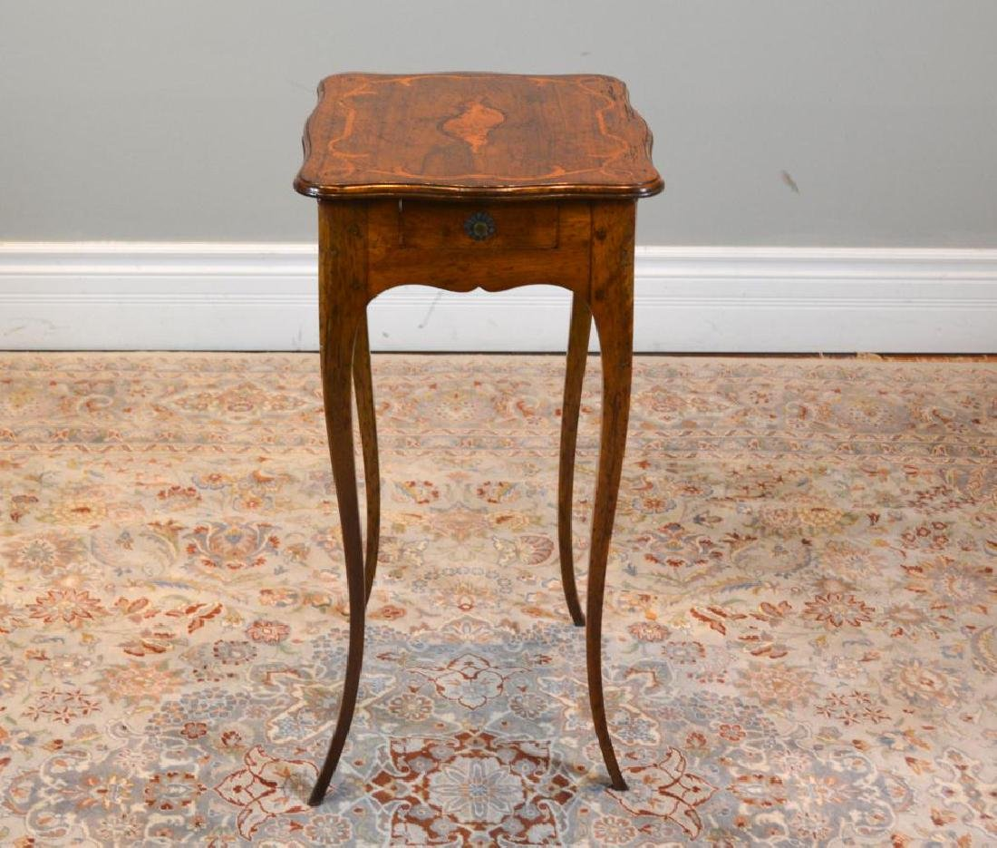 Antique French inlay side table