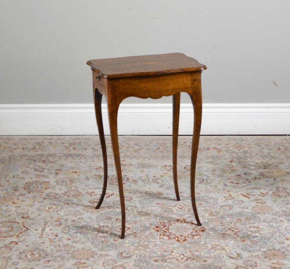 Antique French inlay side table - 2