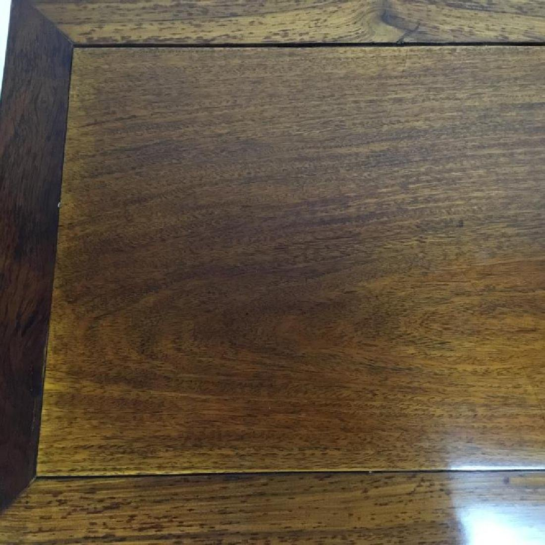 CHINESE HUALI HARDWOOD CARVED LOW TABLE - 4
