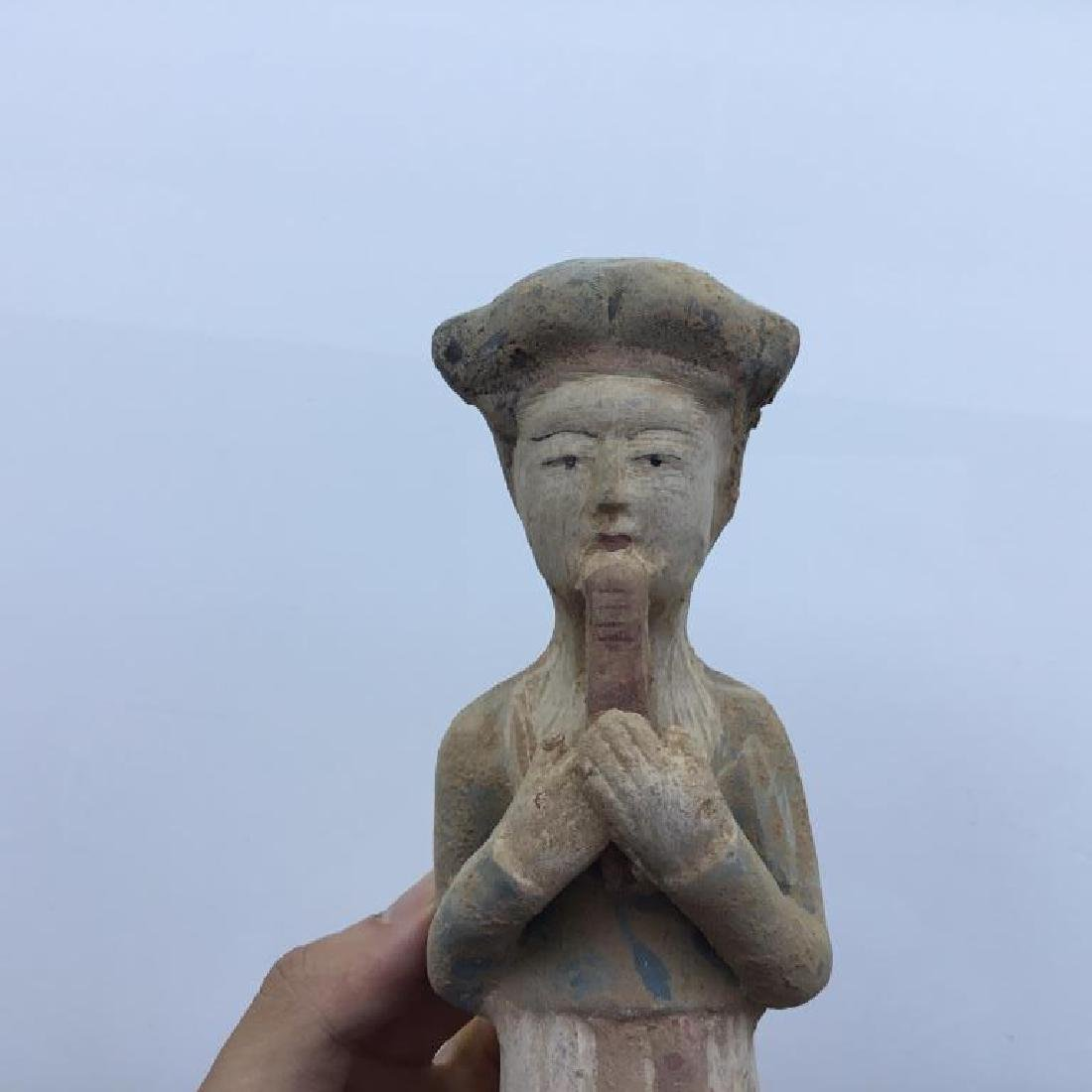 GROUP OF SIX POTTERY FIGURES - 2