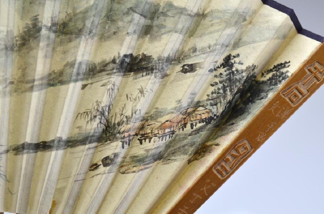 CHINESE PAPER FAN BY LIANG BOYU 梁伯譽 - 2