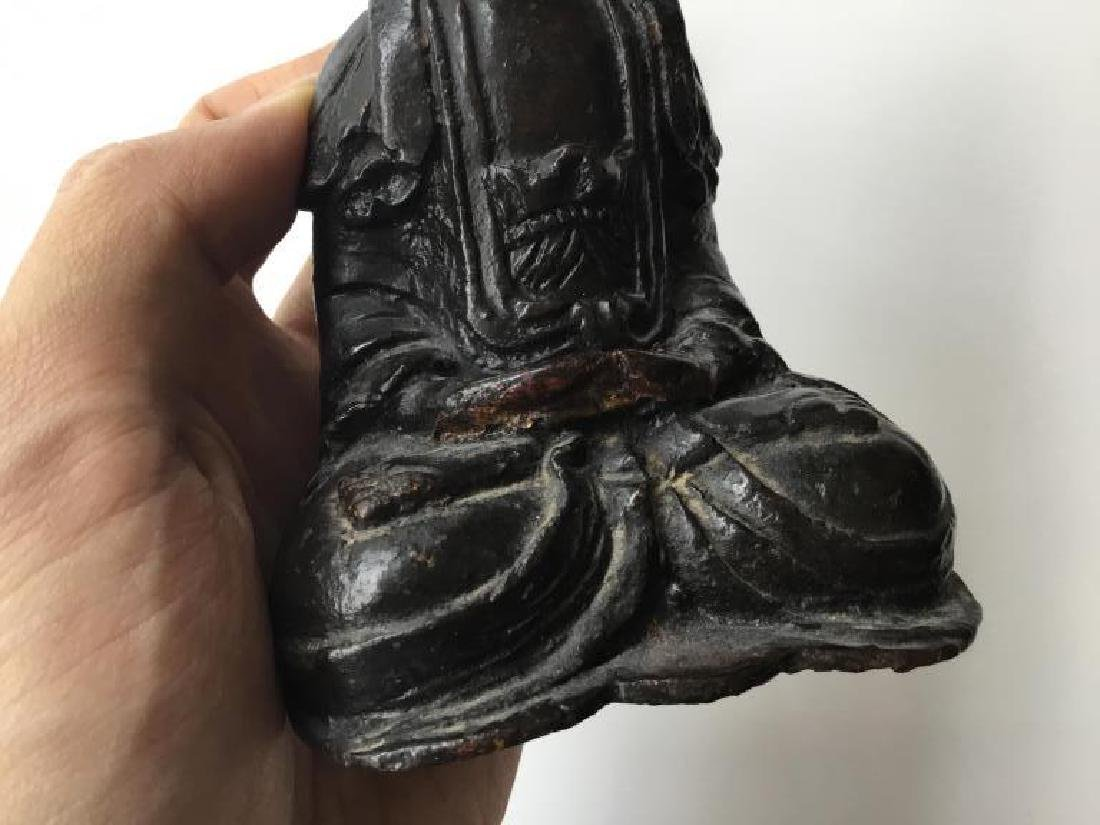 CHINESE BRONZE SEATED AMIDA BUDDHA - 5