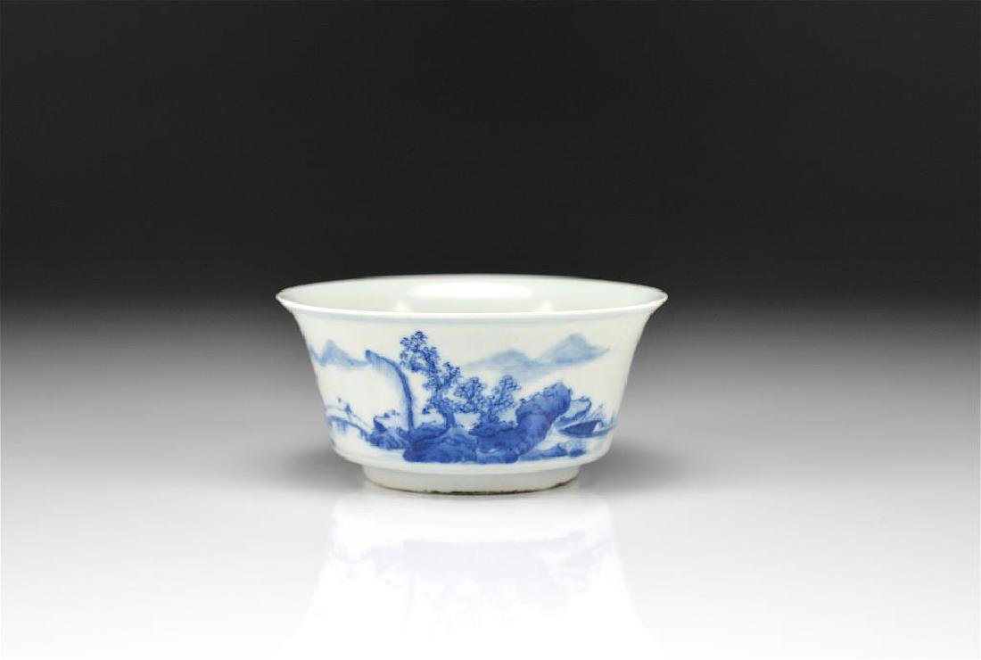 CHINESE BLUE & WHITE PORCELAIN CUP
