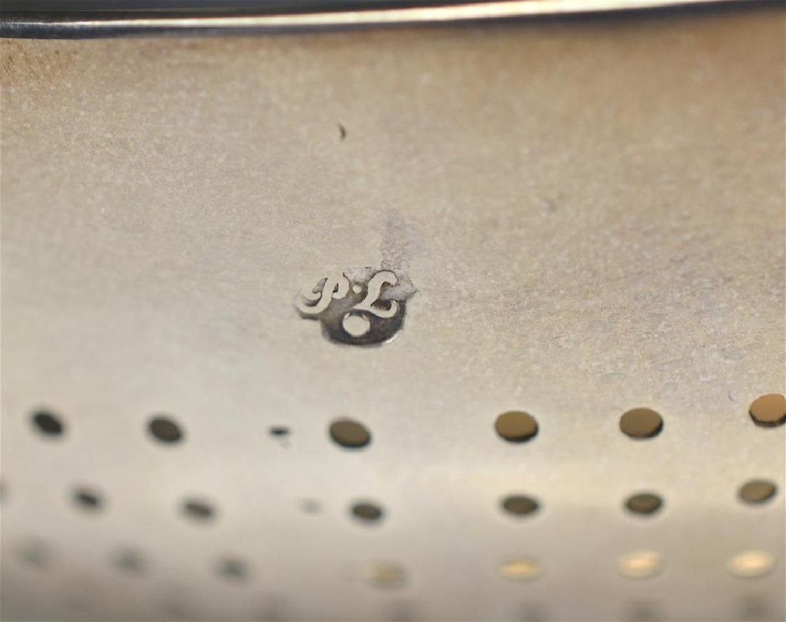 A LARGE GEORGE II SILVER PUNCH STRAINER - 4