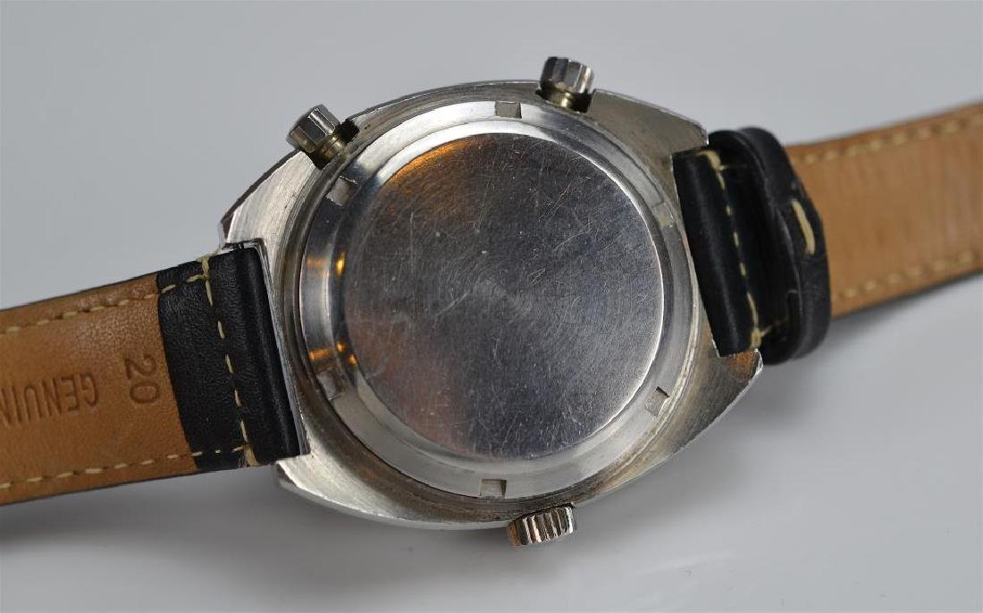 STAINLESS STEEL HEUER AUTAVIA GMT WRISTWATCH - 4
