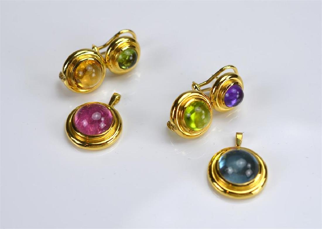 PAIR OF PALOMA PICASSO GOLD EARRINGS - 5