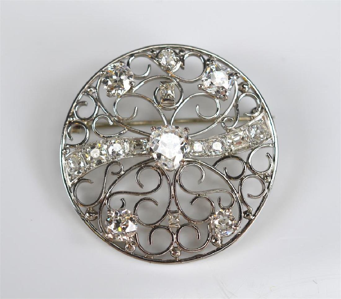 DIAMOND AND PLATINUM BROOCH - 2