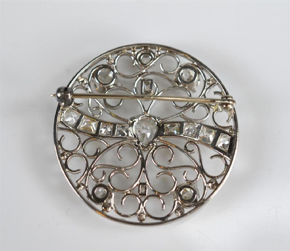 DIAMOND AND PLATINUM BROOCH - 3
